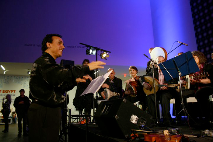 rachid with the orchestra